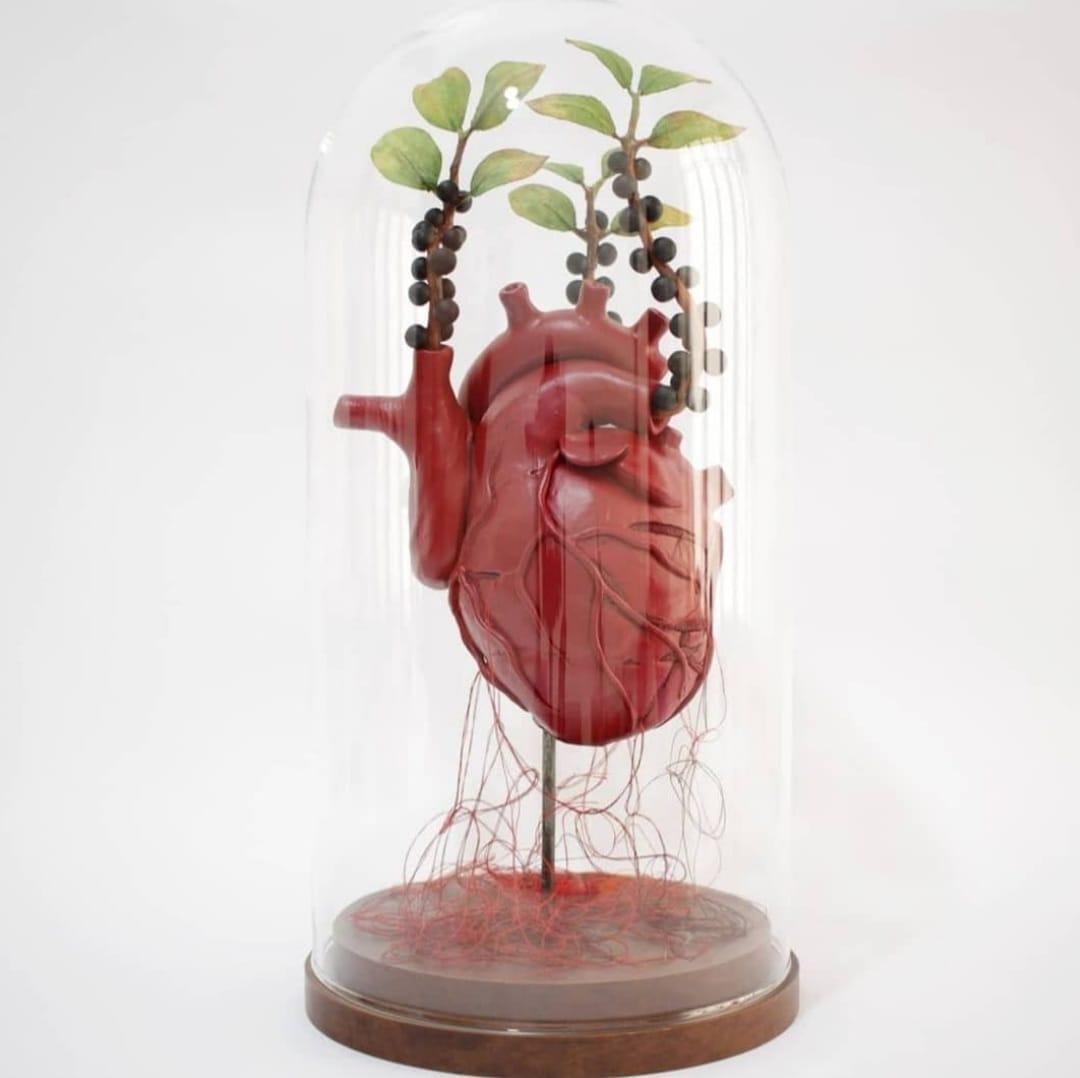 Coração de cerâmica