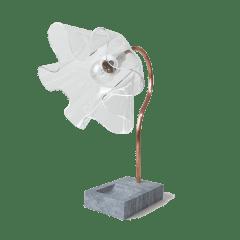 Luminária Flor Transparente - Deluxe Lamp
